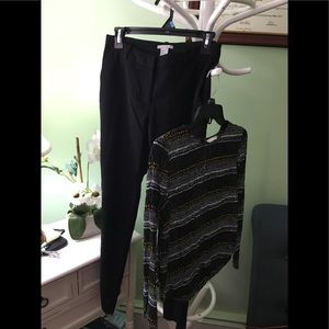 H&M dress pants size 4 and H&M top size 4
